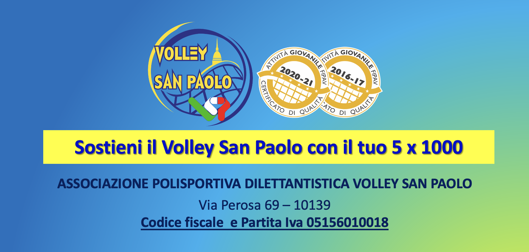 Sostieni il Volley San Paolo